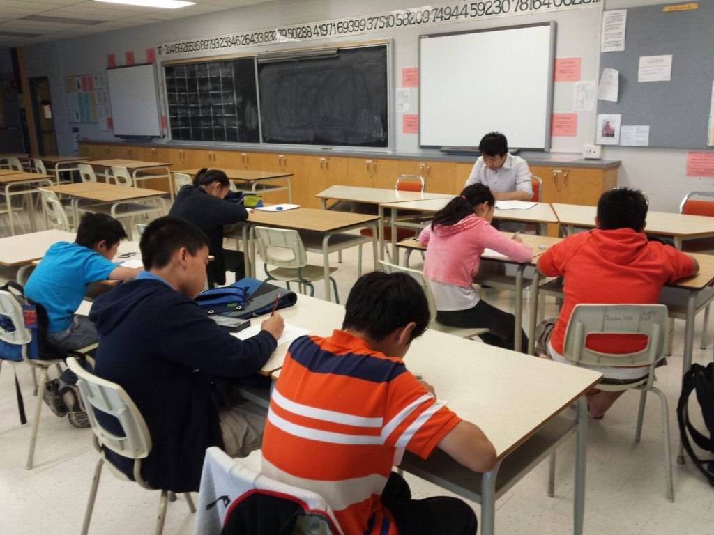 Elementary Class at The Chinese College of Canada
